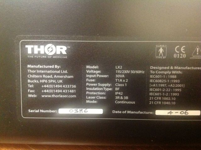Thor Laser Lx2 Light Therapy Sale