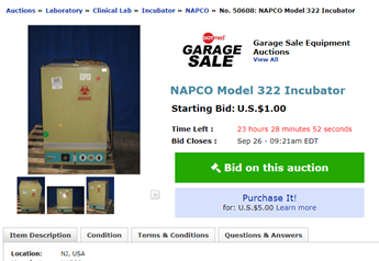 New And Used Medical Equipment Hospital Equipment Medical Instrument Auctions For Sale And Wanted