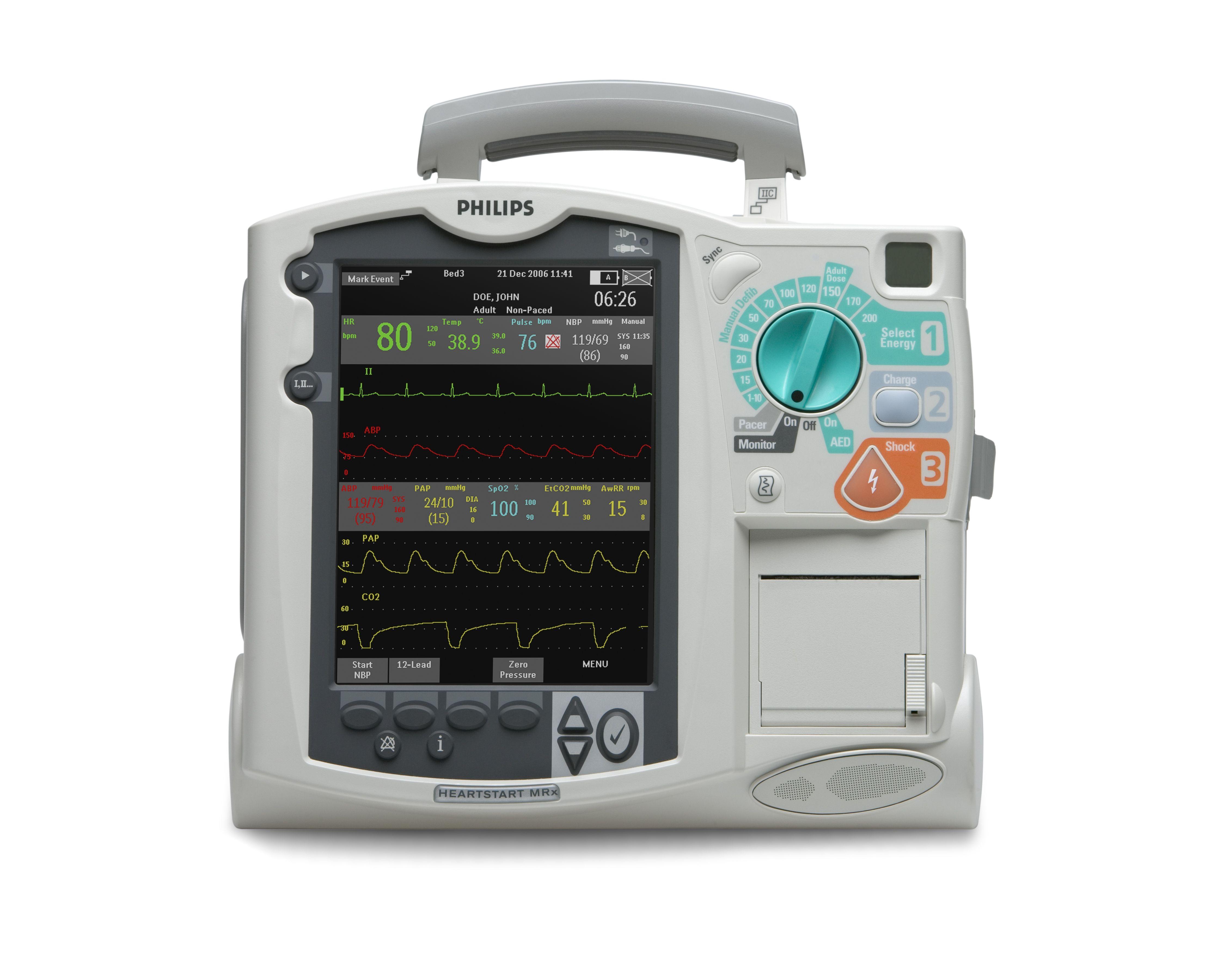 Philips Heartstart Mrx M3535a Defibrillator Model